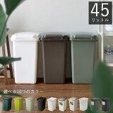 ゴミ箱 連結ワンハンドペール45J ごみ箱 ごみばこ ダストボックス くず入れ ふた付き eco 横 分別 屋内 キッチン おしゃれ かわいい スリム 47L 47リットル 大容量 リス