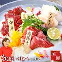 馬刺し 霜降り 熊本 国産 肉 送料無料 ギフト 3種 食べ