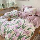 高級ワイドダブル ベッド用品4点セット 寝具 ボックスシーツ 枕カバー掛け布団カバー ベッドカバー 別のサイズあり