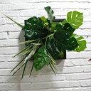 壁飾り 人工観葉植物 壁掛けインテリア ディスプレイ 壁掛けミックスグリーン 造花 壁掛け J