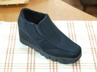 Thickness bottom design shoes black 8721