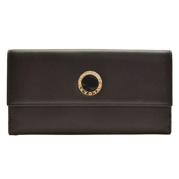 ブルガリ 財布 BVLGARI Wホック 二つ折り長財布 レディース ブラック レザー 31869 アウトレット店買付け【ブランド】【あす楽対応】:リヴェラール