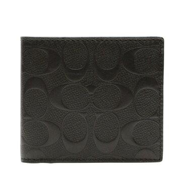 コーチ COACH 折り財布 f75363blk | 二つ折り 小銭入れ ウォレット サイフ さいふ 財布 カード 収納 多い メンズ かっこいい おしゃれ オシャレ シンプル コンパクト スリム 使いやすい ブランド レザー 本革 プレゼント アウトレット ブラックフライデー