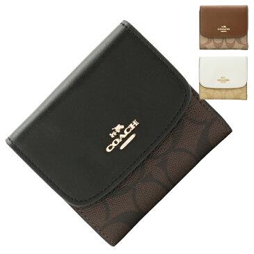 コーチ COACH 三つ折り財布 f87589   ファスナー 小銭入れ ウォレット サイフ さいふ 財布 カード入れ 多い レディース かわいい 可愛い おしゃれ オシャレ 小さい 小さめ コンパクト 薄い 軽い ブランド レザー 本革 アウトレット