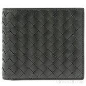 ボッテガヴェネタ 財布 BOTTEGA VENETA メンズ 二つ折り財布 ブラック レザー(牛革) 193642v46511000【送料無料】