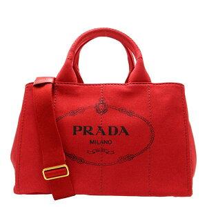 [패션 세일] PRADA 2Way 핸드백 토트 백 Kanapa CANAPA 레이디스 레드 캔버스 1bg642canapa-ross item715