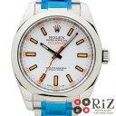 【中古】 ROLEX (ロレックス) ミルガウス 時計 自動巻き/メンズ White 116400/ホワイトダイアル A:良好品