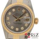 【中古】 ROLEX ロレックス  デイトジャスト 時計 自動巻き レディース Silver シルバー 69173G A:良好品