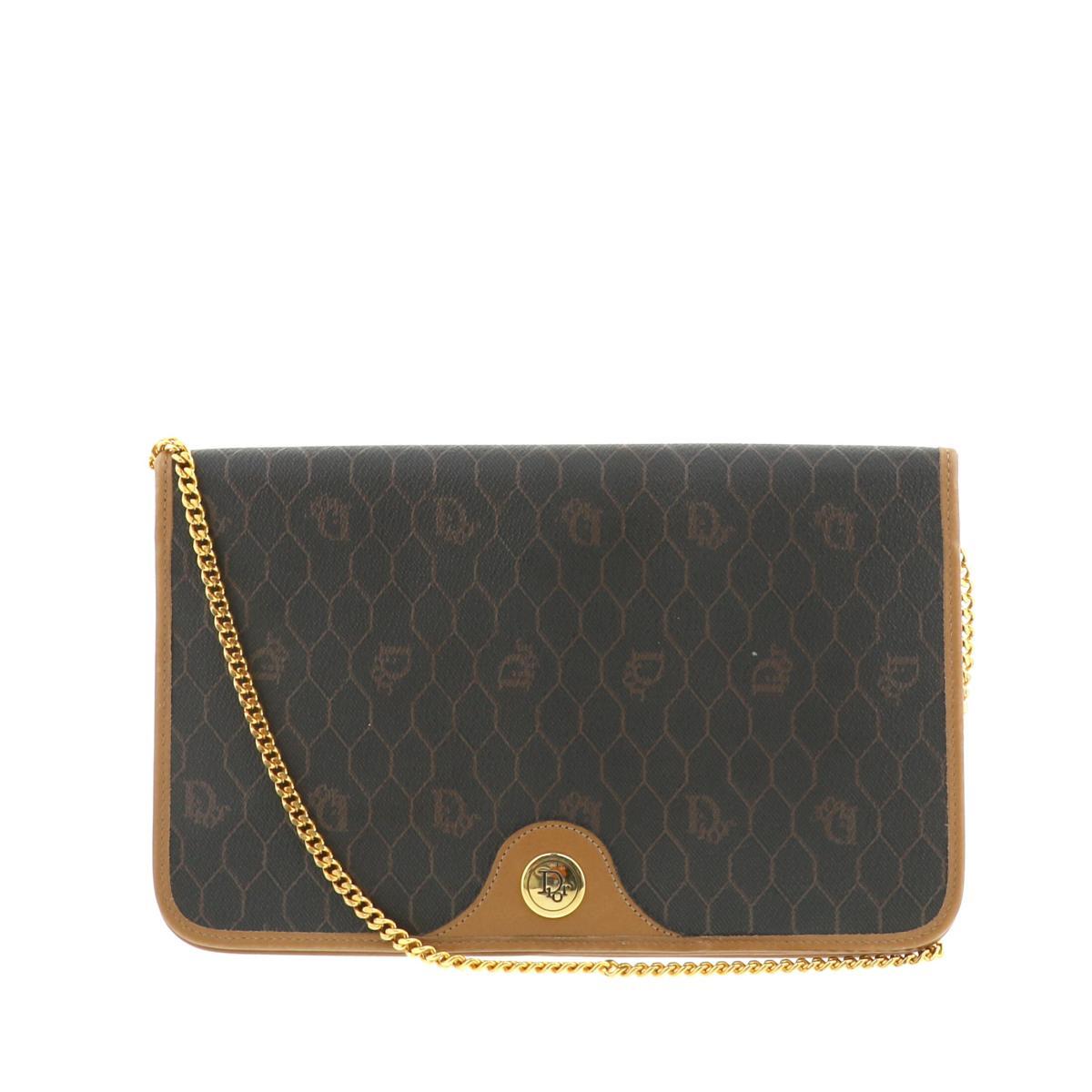 レディースバッグ, ショルダーバッグ・メッセンジャーバッグ  Christian Dior CD Vintage Shoulder Bag Brown USED: A