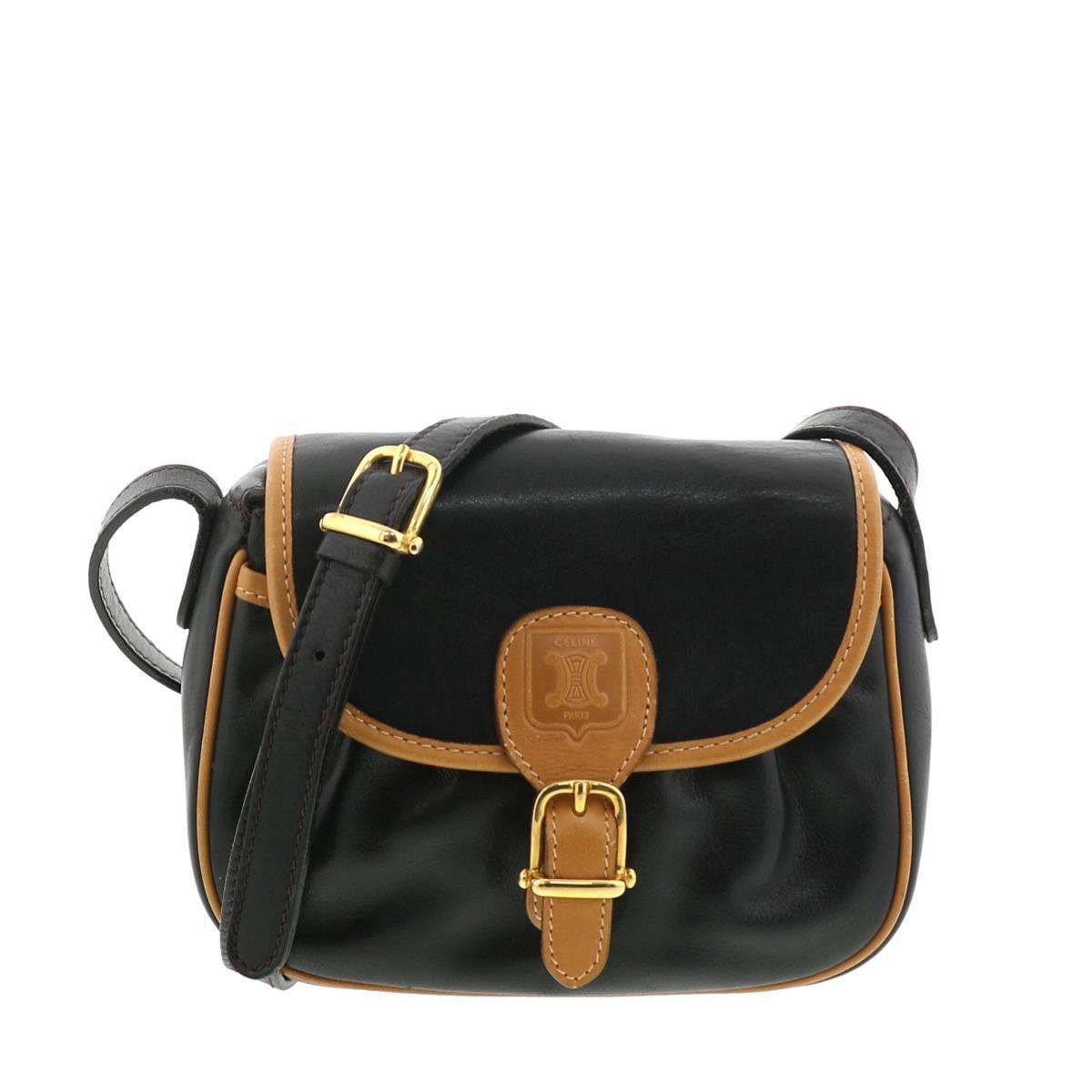 レディースバッグ, ショルダーバッグ・メッセンジャーバッグ  CELINE Vintage Shoulder Bag Black