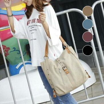リュック ポシェットレディースバック ショルダーバッグ帆布バッグ ズックバッグ多機能 ハンドバッグかばん 大容量アウトドア かわいい全5色 通勤