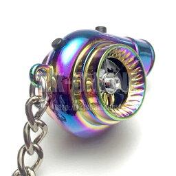 タービンアクション+サウンドLEDキーホルダー:2ボタンUSB充電可能モデル:マイクロUSBケーブルセット:チタンクロームカラー:BOOST-TN1USB:1個