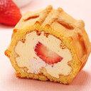 プリンと苺の素敵なコラボ♪【2月限定】くるくるワッフル「いちごぷりん」