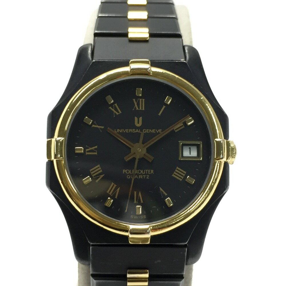 腕時計, レディース腕時計 UNIVERSAL GENEVE POLEROUTER 16KT GOLD 918 600 B