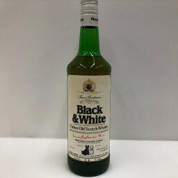 □□【中古】black&white ブラックアンドホワイト スコッチウイスキー 古酒 Sランク 未開栓