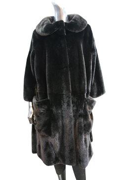 【受注生産】フロントポケット 5フック ミンク 毛皮コート ミンクコート ファーコート レディース