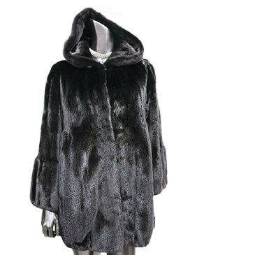 人気商品 ミンクの王様 ブラックグラマーファーコート 毛皮コート ファーコート レディース ミンクコート