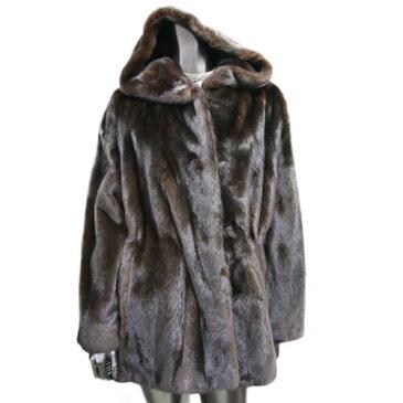 人気商品 ファーコート 毛皮コート ミンクコート ミンク ブラック 黒 レディース
