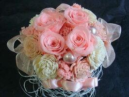 ブリザードフラワー誕生日ケース入り結婚祝いギフトバースデーピンクのバラが可愛い♪プリザーブドフラワー&ソーラーローズ送料無料