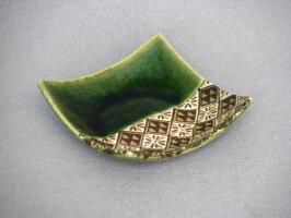 【開店セール1212】【瀬戸焼/せともの】【小皿/取皿】織部三角紋正角小皿