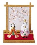 【雛人形/ひな人形】【陶器/置物】【節句】平安雛 桜 御所雛