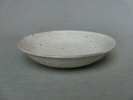 【美濃焼/みのやき/せともの】【盛皿/パスタ皿】鉄粉引6寸深皿