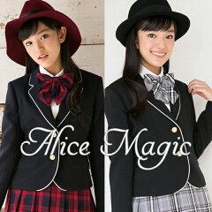 ジャケット、ブラウス、スカート、リボンの卒業スーツ4点セット。新ブランドALICE MAGIC。送料...