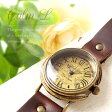 Mari Goto アンティークな手作り腕時計 Calm LGothic Laboratory 腕時計 レディース かわいい 革ベルト 手作り ゴールド 人気 お誕生日 入社祝い 入学祝い 卒業祝い プレゼント【送料無料】