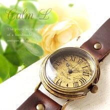 【NEW】MariGotoアンティークな手作りの腕時計CalmLGothicLaboratory腕時計レディースかわいい革ベルト手作りゴールド人気お誕生日プレゼント【楽ギフ_包装選択】【楽ギフ_送料無料】【RCP】