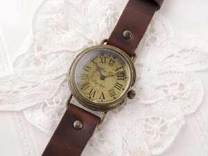 MariGotoアンティークな腕時計CalmMGothicLaboratory腕時計レディースかわいい革ベルト手作りゴールド人気お誕生日プレゼント【楽ギフ_包装選択】【楽ギフ_送料無料】【RCP】05P02Mar14