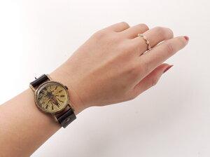 GothicLaboratory蜜蜂の腕時計Mミツバチアンティーク腕時計レディースメンズ革ベルトレザーハンドメイド手作り腕時計ゴールドプレゼントギフト【楽ギフ_包装選択】【楽ギフ_送料無料】【RCP】05P02Mar14