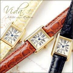Vida+ 腕時計 レディース 革ベルト かわいい 〈クラシカル〉(ビーダプラス)アンティーク ゴールド 人気 おすすめ お誕生日 プレゼント SHIPS nano universe VIDA+ / squar watch 【送料無料】【RCP】