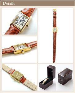 VIDA+MiniRectangularレディース腕時計〈ビーダプラスミニレクタンギュラー〉腕時計レディース革ベルトかわいい時計アンティークゴールド人気おすすめ誕生日プレゼントギフトSHIPSnanouniverse【送料無料】P19May15