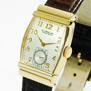 CIRCA腕時計(サーカ)[CT109T]/レディース腕時計女性用メンズヴィンテージビンテージゴールド牛革クラシック大きい文字盤ボーイズサイズ/