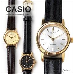 CASIO(カシオ) 腕時計 レディース 革ベルト かわいい【海外モデル】【正規品】 ゴールド 人気 生活防水 お誕生日 プレゼント [LTP-1095Q-9A LTP-1095Q-7A LTP-1095Q-1A]【送料無料】【RCP】