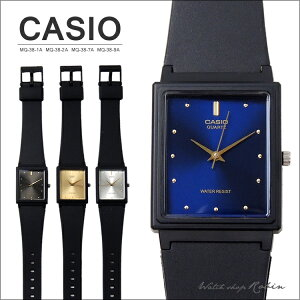 CASIOカシオアナログ腕時計ユニセックス生活防水ブラック/ゴールド/シルバー/ブルーMQ-38-1A/MQ-38-2A/MQ-38-7A/MQ-38-9A
