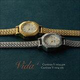 Vida+Curious腕時計レディースおしゃれかわいいアンティーク調ヴィンテージ調ゴールドV-004GM