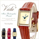 VIDA+ Mini Rectangular 腕時計 レディース 革ベルト スワロフスキー
