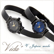 Vida+レディース腕時計〈ブラックチェーンベルトスワロフスキーモデル〉アンティーククラシカル人気おすすめお誕生日プレゼントおしゃれかわいいnanouniverse【送料無料】【RCP】