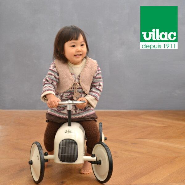 VILAC レーシングカー ホワイト(ヴィラク ヴィラック レトロ 乗用玩具 四輪車 おもちゃ 乗り物 子供用 ベビーギフト フランス 幼稚園 保育園 プレゼント お祝い おしゃれ 外国 海外 アンティーク 男の子 キッズルーム インテリア 高級 )