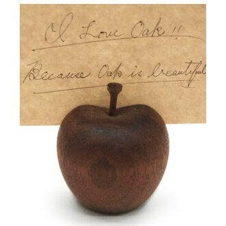 ■ Inc.(La Luz la Luce) ■ リンゴカード holder L Walnut (display goods, wood)-+ natural-