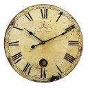 西欧の古い絵本に出てくるようなアンティーク仕上げの時計。大きなヨーロピアンサイズクロック...