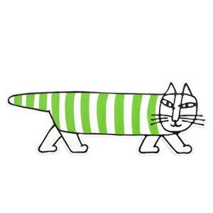 Lisa Larson ポストカード マイキー 緑 LL207gMikey 猫 ネコ ねこ 北欧 スウェーデン アンティーク オブジェ 置物 陶器 リサラーション 北欧雑貨 スカンジナビア カフェ 装飾 アニマル リサ ラーソン