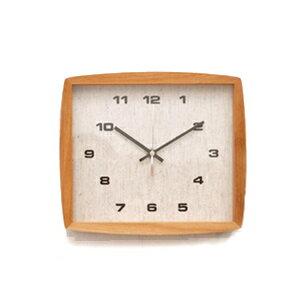 ■ La Luz Inc. (La Luce) ■ Form clock フォルムク clock natural (clock wall clock wooden simple tabletop solid material public facility platform school glass quiet bedroom living clock Interior natural)