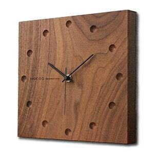 厚み2cmの分厚い無垢材を文字盤に用いた掛け時計。天然木を用いたシンプルなデザインは和室、洋...