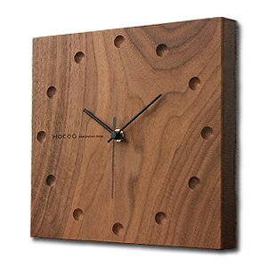 Hacoa hacoa wall clock-square Walnut H151-W ( wall clock-natural-wood )