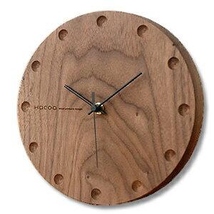 Hacoa hacoa wall clock-round Walnut H150-W ( wall clock-natural-wood )