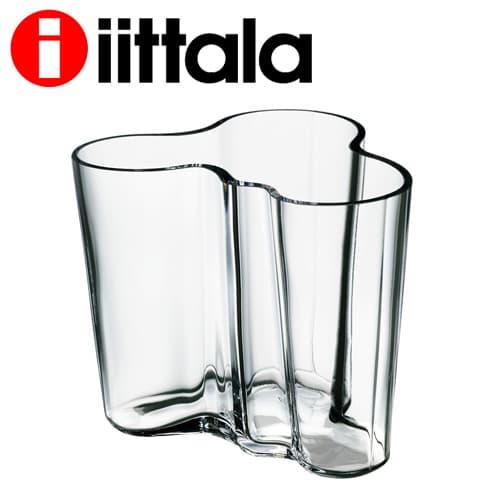 iittala イッタラ Alvar Aalto アルヴァアアルト ベース 95mm クリア 花瓶