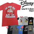Disney ディズニー Men's メンズ キャラクター 半袖 Tシャツ Mickey ミッキー ドナルド グーフィー 白雪姫 グランピー