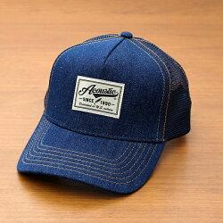 アコースティック[Acoustic]「デニムメッシュキャップ」(GOLD/ゴールド)(66-az6000)メンズレディースユニセックスブランド帽子ベースボールキャップBBキャップデニムOTTOオットーシンプルアメカジ春夏